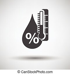 Humidity icon on gray background with round shadow Vector...