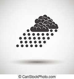 Hail icon on gray background with round shadow. Vector...