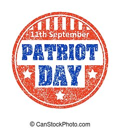 11th September Patriot day colorful grunge style rubber...