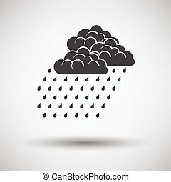 Rainfall icon on gray background with round shadow Vector...