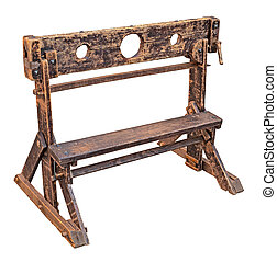 medieval pillory, ancient device used for punishment by...