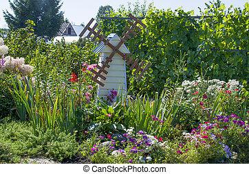 kitchen garden with flowers - garden a kitchen garden with...