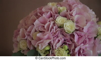Wedding bouquet of the bride,full hd video