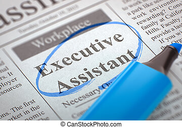 Executive Assistant Wanted. - Executive Assistant -...
