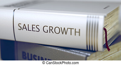 Book Title on the Spine - Sales Growth - Book in the Pile...