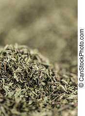 Stevia leaves (dried) for use as background image or as...