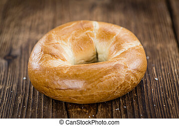 Plain Bagel (selective focus) - Fresh made plain Bagel...