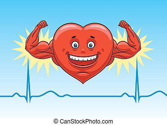 Heart in perfect condition - Cartoon heart shows his...