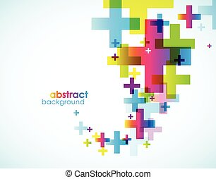 Abstract colored background. Vector art