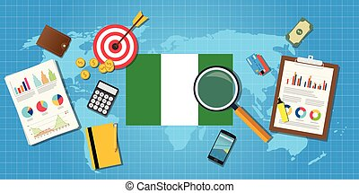nigeria africa economy economic condition country with graph...