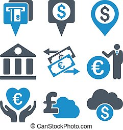 Banking Flat Vector Icons