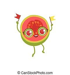 Pink Guava Girly Cartoon CharacterChildish Design Sticker...