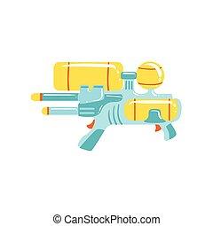 Colorful Fantastic Water Gun Flat Bright - Colorful...