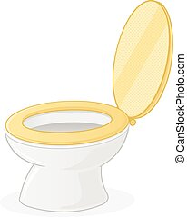 Toilet Seat - Toilet seat vector illustration isolated on...