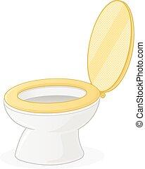 Toilet Seat - Toilet seat vector illustration isolated on...