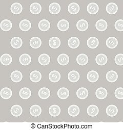 Silver coin vector pattern