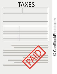 Vector tax form paper sheet