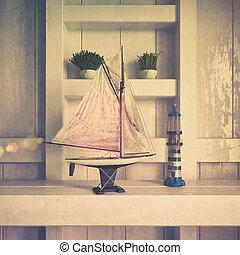 3d - maritime decoration - shot 02 - retro style