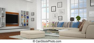 3d - modern livingroom - shot 41