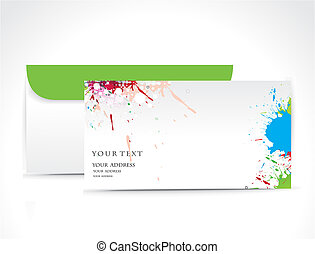 Paper envelope isolated on white background, vector...