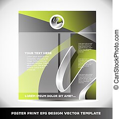 Event poster print design template - event poster banner...