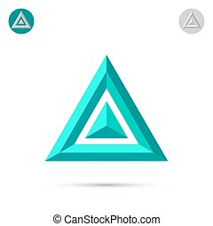 Delta letter icon, 2d triangle logo, vector illustration,...