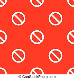 Seamless road sign pattern
