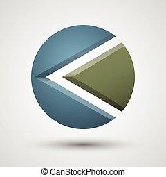 Abstract arrow logo.