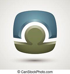 Abstract human logo.