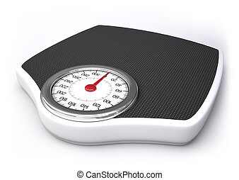 Weight Scale - Weight scale with clipping path included.