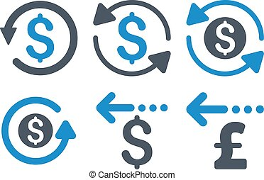 Refund Flat Vector Icons - Refund vector icons. Icon style...