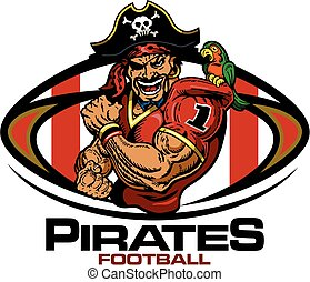 pirates football - muscular pirates football player team...