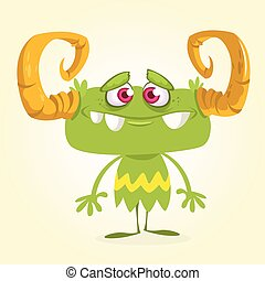 Halloween vector green monster