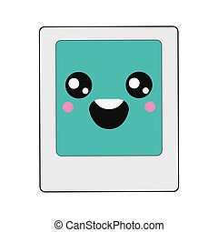 kawaii instant photo icon