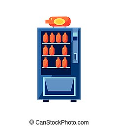 Soft Drink Vending Machine Design In Primitive Bright...