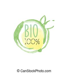 Percent Bio Fresh Products Promo Sign - 100 Percent Bio...