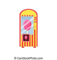 Cotton Candy Vending Machine Design In Primitive Bright...