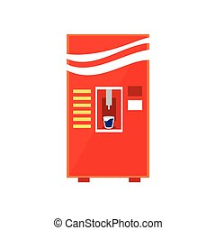 Cold Drinks Vending Machine Design In Primitive Bright...