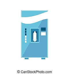 Milk Vending Machine Design In Primitive Bright Cartoon Flat...