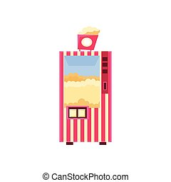 Popcorn Cinema Vending Machine Design In Primitive Bright...
