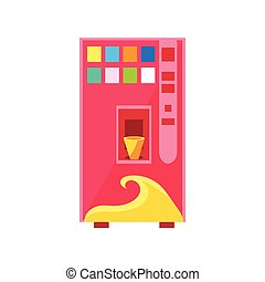 Sweet Drinks Vending Machine Design In Primitive Bright...
