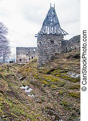 Castle in village Nevicke, Ukraine - Nevitsky Castle ruins...