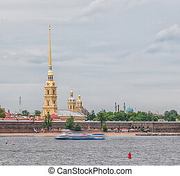 St Petersburg View from the Neva River on Peter and Paul...