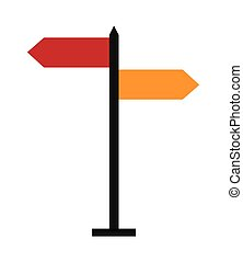 street name sign icon - flat design street name sign icon...