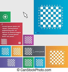 Modern Chess board icon sign. buttons. Modern interface website buttons with cursor pointer. Vector