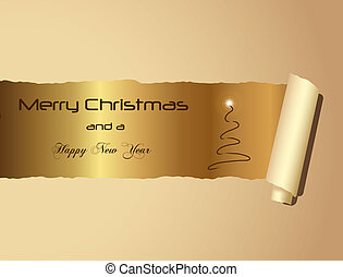Christmas Gold Background Wallpaper