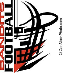 bandits football team design with helmet and facemask for...