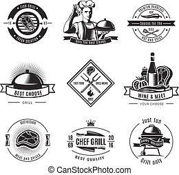BBQ Vintage Label Set
