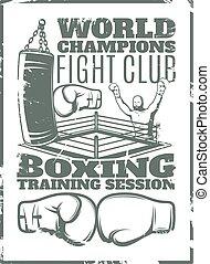 Boxing Monochrome Worn Print