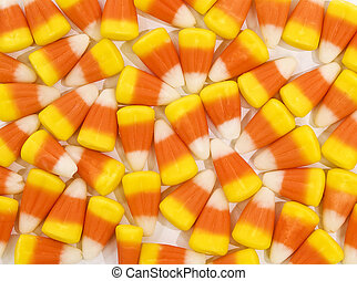 Candy Corn Background - Horizontal shot of a solid candy...